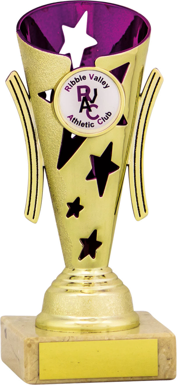 Gold/Purple Cone Trophy