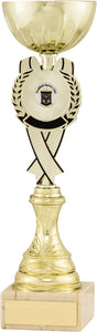 Gold/Black Rosette Cup Trophy