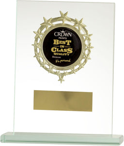 Glass Plaque Emblem Trophy