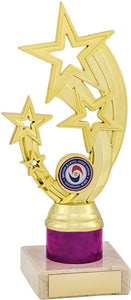 Gold/Pink Star Trophy Tall