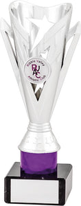 Silver/Purple Column Trophy
