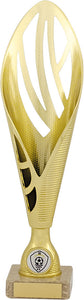 Gold Open Fluted Trophy