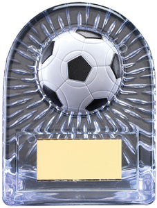 Grey Glass Football Trophy