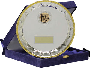 Silver With Gold Edge Salver Trophy