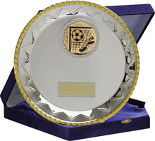 Load image into Gallery viewer, Silver With Gold Edge Salver Trophy