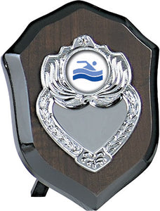 Dark Wood With Silver Emblem Plaque Trophy