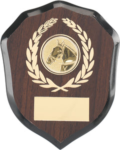 Dark Wood With Gold Plaque Trophy
