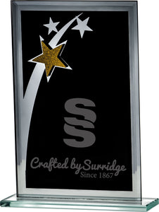 Black Glass Star Plaque Trophy