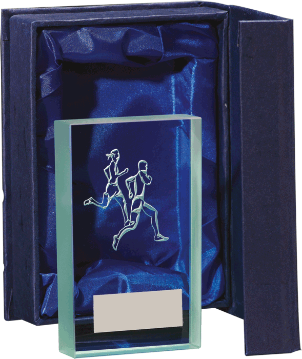 Glass Running Trophy