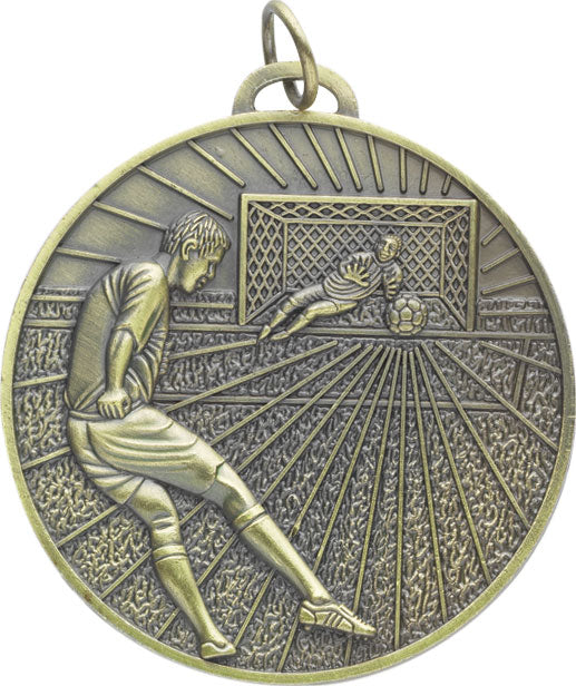 Football Medal Round Gold 70mm