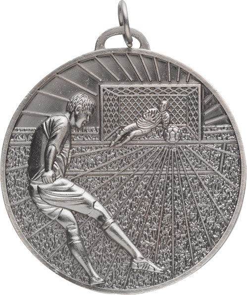 Football Medal Round Silver 70mm