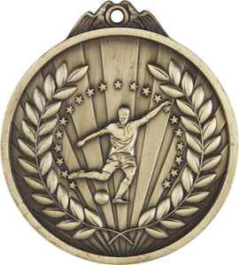 Football Medal Round Gold 65mm