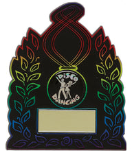 Load image into Gallery viewer, Black/Multi Coloured Plaque Trophy