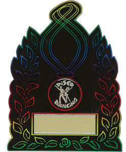 Black/Multi Coloured Plaque Trophy