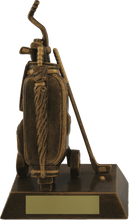 Load image into Gallery viewer, Bronze Golf Bag Trophy