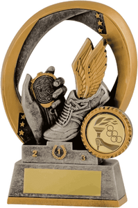 Winged Boot & Stopwatch Trophy