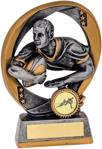 Gold/Grey Rugby Player Trophy