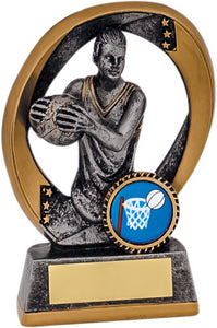 Gold & Grey Player Netball Trophy