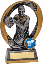 Load image into Gallery viewer, Gold & Grey Player Netball Trophy