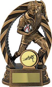 Rugby Player In Bronze Trophy