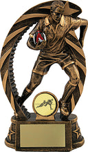 Load image into Gallery viewer, Rugby Player In Bronze Trophy