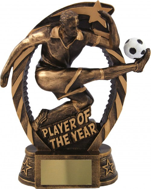 Bronze Player Title Football Trophy