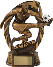 Load image into Gallery viewer, Bronze Player Title Football Trophy