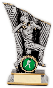 Silver Throwing Ball Cricket Trophy