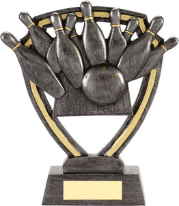 Pewter/Gold Ten Pin Bowling Trophy