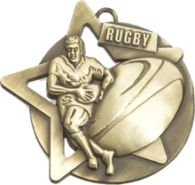 Load image into Gallery viewer, Ball & Star Rugby Trophy