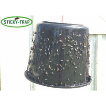 Load image into Gallery viewer, Sticky Trap flytrap made with black bucket
