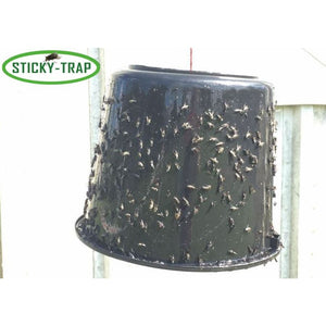 Sticky Trap flytrap made with black bucket
