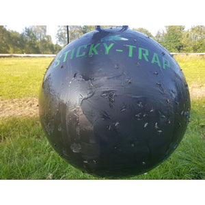 Sticky trap flytrap ball with biting flies
