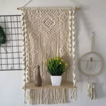 Load image into Gallery viewer, Macrame Plant Shelf Wall Hanging Tapestry