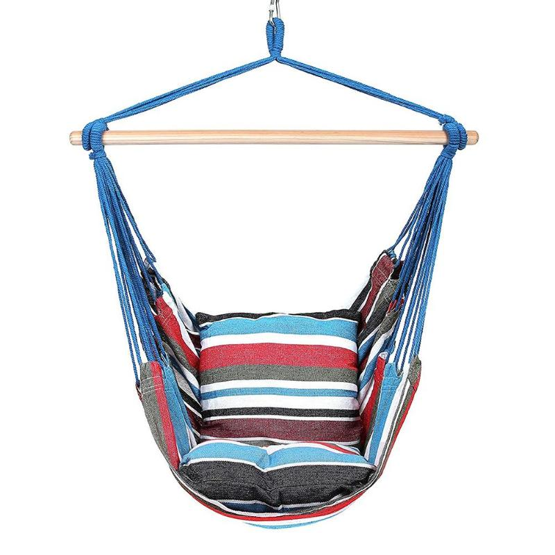 Indoor/Outdoor Chair Swing with Pillows