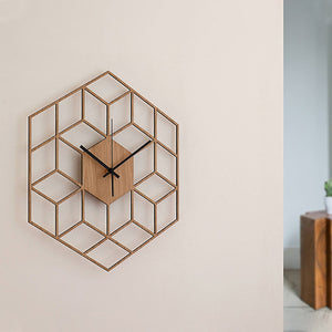 Wooden Bamboo Modern Large Silent Wall Clock