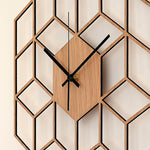 Load image into Gallery viewer, Wooden Bamboo Modern Large Silent Wall Clock