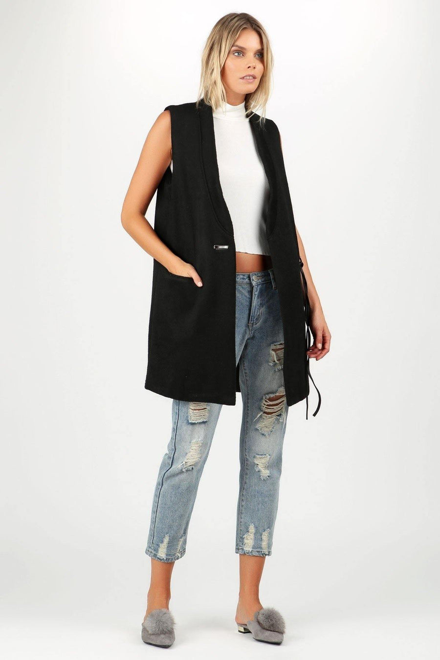Classic Vest - Black Outerwear Bonny Flair