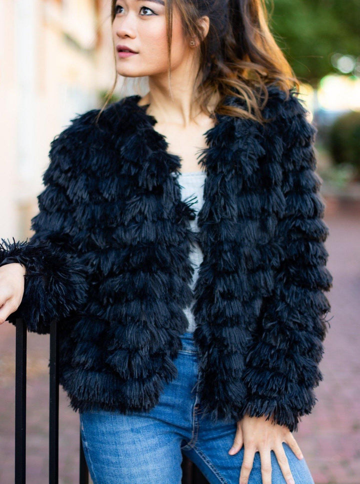 Faux Fur Party Jacket - Bonny Flair