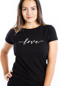 LOVE Breastfeeding T-shirt (Black) - The Milky Tee Company