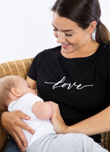 Load image into Gallery viewer, LOVE Breastfeeding T-shirt (Black) - The Milky Tee Company