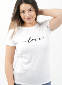 LOVE Breastfeeding T-shirt (White) - The Milky Tee Company