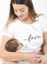 Load image into Gallery viewer, LOVE Breastfeeding T-shirt (White) - The Milky Tee Company