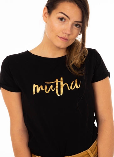 MUTHA Breastfeeding T-shirt (Black) - The Milky Tee Company