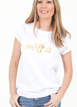Load image into Gallery viewer, MUTHA Breastfeeding T-shirt (White) - The Milky Tee Company