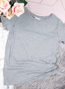 PLAIN GREY Breastfeeding T-shirt - The Milky Tee Company