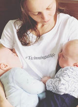 Load image into Gallery viewer, TWINNING AT LIFE breastfeeding T-shirt - The Milky Tee Company