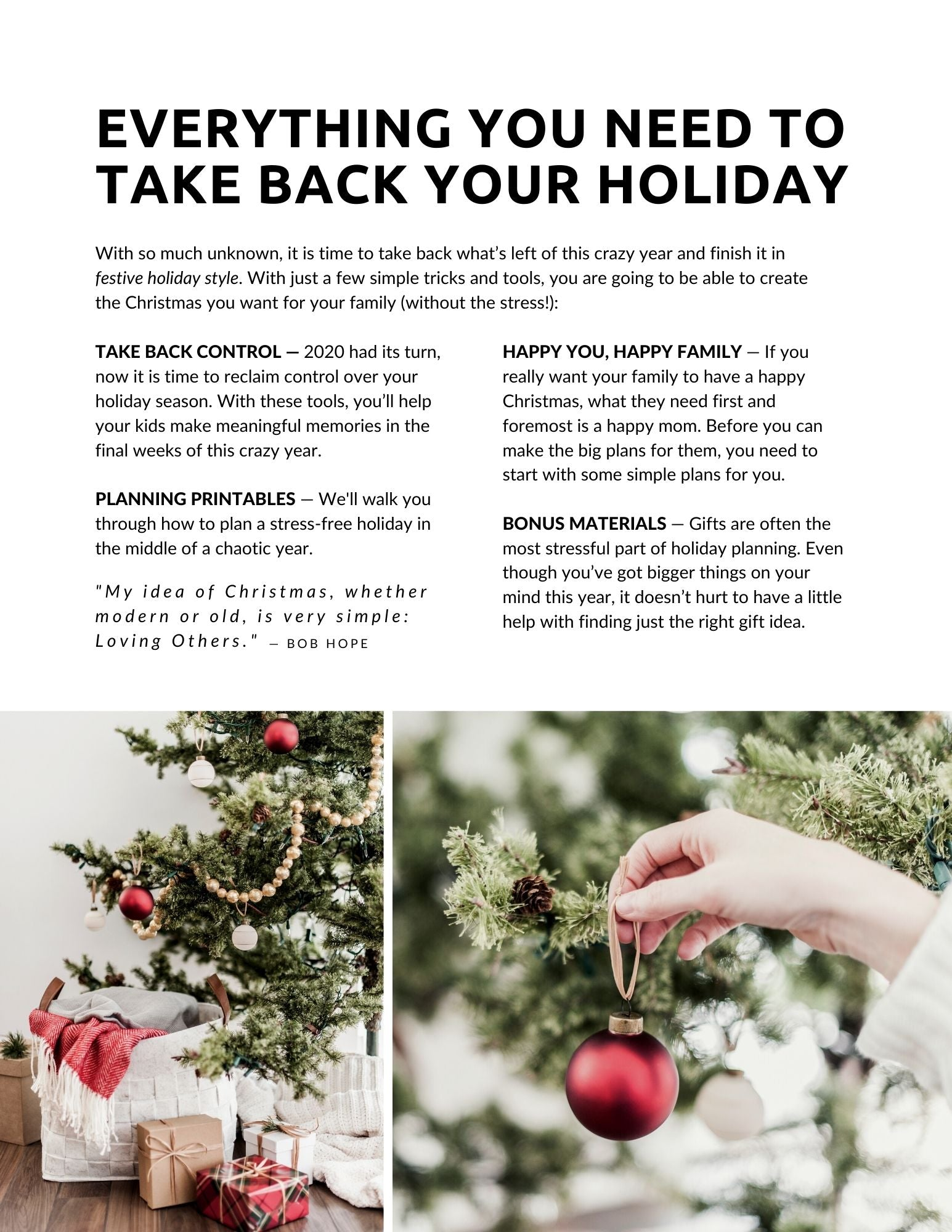 Take Back Your Holiday — Enjoy A Stress-Free & Simple Christmas This Year