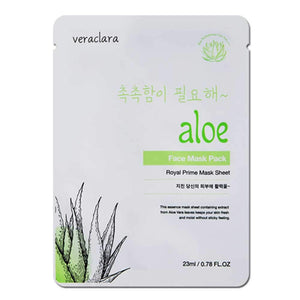 [Veraclara] Prime Facial Mask (10 Counts ) Korean Skincare | Lighten, Moisturize, Firming Skin | Diminish Dark Spot & Circles - Aloe