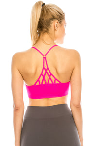 TRIAGNLE BACK O-RING BRALETTE